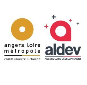 Logo Angers Loire métropole et Aldev